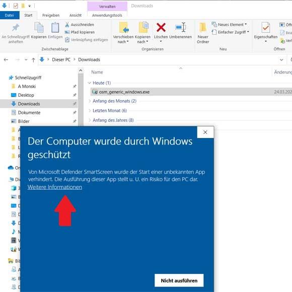 OSM Karte auf Windows installieren Schritt 1