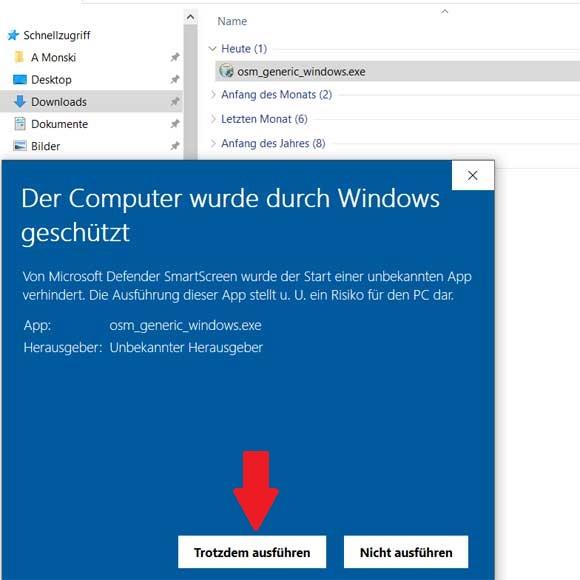 OSM Karte auf Windows installieren Schritt 2