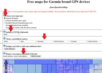 Anleitung OSM Karte erstellen Menuwahl
