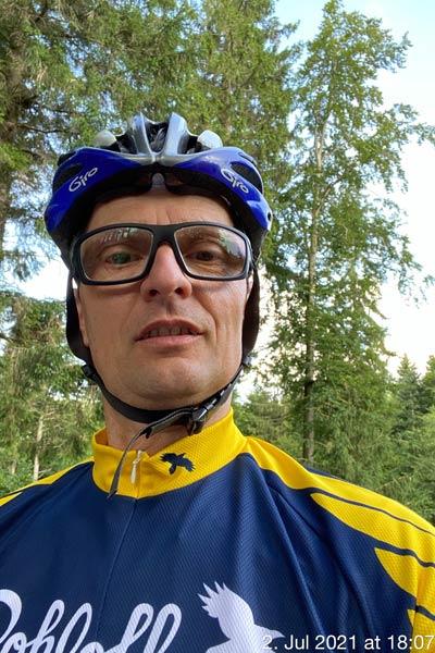 Everesting im Schwarzwald Rote Lache Bernhard Hartenstein am Start