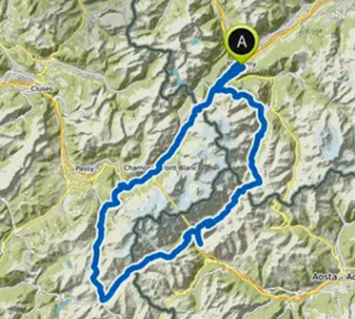 Bikepacking Strecke Tour du Mont Blanc
